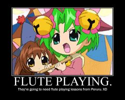 Playing Flute. XD by Giss-chan