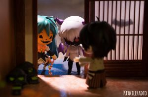 Nendoroids Trick or Treating on Halloween by kixkillradio