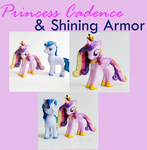 Shining Armor and Princess Cadence MLP Customs by alltheApples