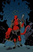 Hellboy Print by Pogues