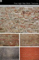 Five High Res Brick Textures by HollowIchigoBanki