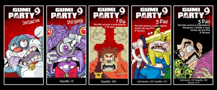 ENTRADAS GUMIPARTY 9 by lpspalmer