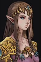 Princess Zelda Portrait by Mimibert