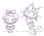 77. Pokemon - Goth-Espurr and Metal-Meowth by CaptainMetal