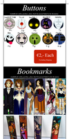 Button and Bookmark Sales by TheDutchesse