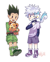 C - Gon and Killua by Kaibuzetta