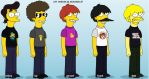 my chemical romance simpsons by cyanidexyouxdrink