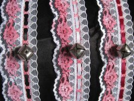 Pink Cat Collars by mad-hatter-inc