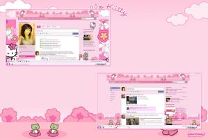 Hello Kitty Facebook by LadyPinkilicious