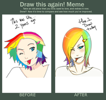 Draw this again meme by AminDeviant