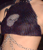 Chainmail halter with skull by Ganghiss