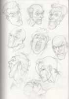 Drawing Face Angles 3 by OLUDAYONBA