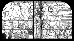 SPN - stained glass windows by nami64