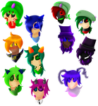 Crazy Hair Colors Ahoy by TheSaturnianWildcat