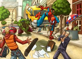 Spiderman vs. Hulk 2 by NeMA by artmunki