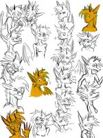 Dragon Expressions1 by Questionablexfun