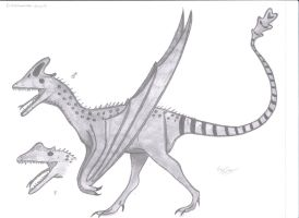 Cristatuvenator truncatis (Dragons of the world FA by KingEdmarka
