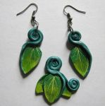 FOR SALE - spring leaves jewelry set by LeiaLeaf