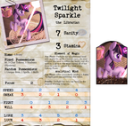 Arkham Horror Character Sheet - Twilight Sparkle by DeftCrow