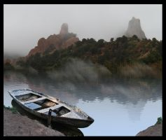 Fishing in the Misty Mountains by Kaibu