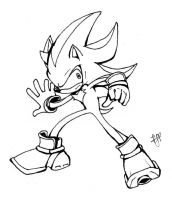 Shadow the Hedgehog Inks by arvalis