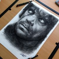 Tyrion Color Pencil Drawing by AtomiccircuS