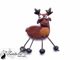 "Brooch ""Mad moose"" by Tantalia"