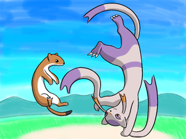 Mienshao featuring a Stoat by Aetonal