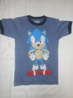 Classic Sonic Standing T-shirt (Front) by BoomSonic514