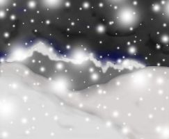 Snow Background practice by ThatChickWithDaPony