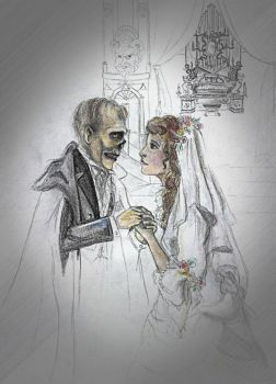 Marriage of a ghost sketch by Sylent-Fantome