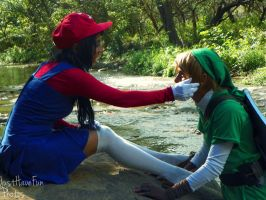Maria and Link.... by HylianDragneel