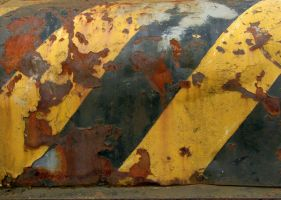 rusty warning stripes 2 by pixini-stock