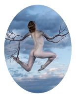 Goddess of Nature with Wings by blackbath