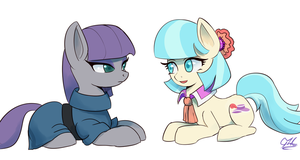Maud and Coco sketch by Raikoh-illust