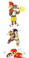 Banjo-Kazooie Doodles. by Miss-Lizzifer