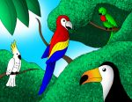 Tropical Birds by streetgals9000
