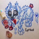 Corvus the ghost dog~ (old)  by MoonlightMalaise