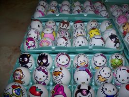 Easter Eggs Hello Kitty by Rene-L