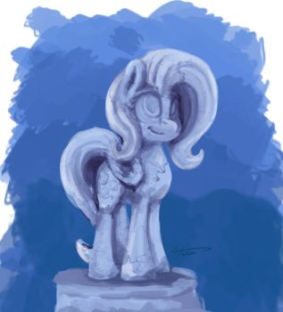Flutter statue by TheFloatingTree