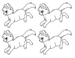 FREE Jumping Kitty Lineart/Base by Wreaux