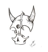 Skull Tattoo sketch - 2 by InvaderKiba