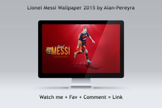 Messi Bacelona Wallpaper 2015 V2 by Alan-Pereyra by Alan-Pereyra