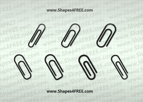 7 Paperclip Photoshop Shapes by Shapes4FREE