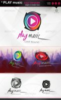 Play music :: logo :: template by gomez-design