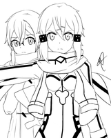 I'm not dead yet - Sinon **work in progess** by BanabaBBQ