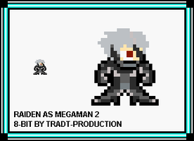 Raiden as megaman 2 style by TRADT-PRODUCTION