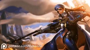 Ana | Animated Wallpaper - Overwatch by CJXander