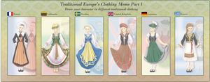 Europes traditional clothing meme Part1  FINISHED by Ke-ha
