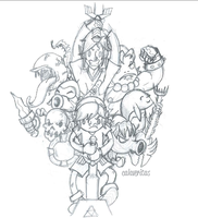Sketch Legend of Zelda by ViciousJulious